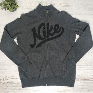 Nike heather gray zip-up crewneck